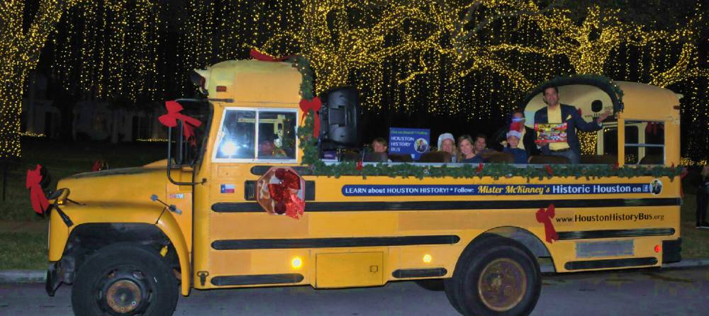 Houston History Bus Pre-K Pals Christmas Toy Drive